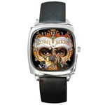 Michael Jackson Square Metal Watch