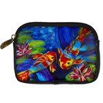 Koi Encounter - Digital Camera Leather Case