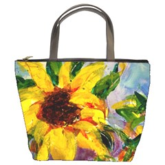 Single Sunflower By Alana   Bucket Bag   Ceby3m62voo9   Www Artscow Com Front