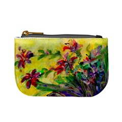 Uncontrolled Lilies By Alana   Mini Coin Purse   Ak7dwn2u6ypp   Www Artscow Com Front