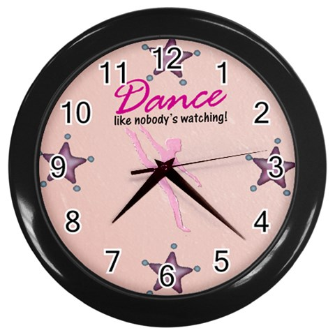 Dance Clock By Danielle Christiansen   Wall Clock (black)   Kc23578lttgk   Www Artscow Com Front