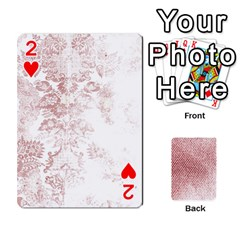 Romance & Warning Cards By Amyjo   Playing Cards 54 Designs   1ct9x2hbc9dn   Www Artscow Com Front - Heart2