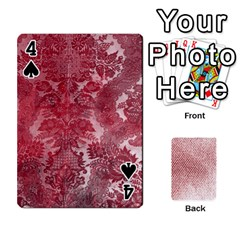 Romance & Warning Cards By Amyjo   Playing Cards 54 Designs   1ct9x2hbc9dn   Www Artscow Com Front - Spade4