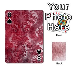 Romance & Warning Cards By Amyjo   Playing Cards 54 Designs   1ct9x2hbc9dn   Www Artscow Com Front - Spade8