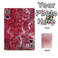 Romance & Warning Cards By Amyjo   Playing Cards 54 Designs   1ct9x2hbc9dn   Www Artscow Com Front - Spade10