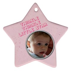 Baby s First Christmas By Catvinnat   Star Ornament (two Sides)   Bqzic4z92f32   Www Artscow Com Front