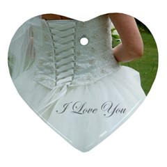 Always & Forever Bridal Ornament By Catvinnat   Heart Ornament (two Sides)   T1vonkaod7gx   Www Artscow Com Front