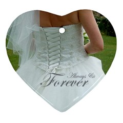 Always & Forever Bridal Ornament By Catvinnat   Heart Ornament (two Sides)   T1vonkaod7gx   Www Artscow Com Back
