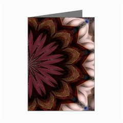 Kaleidescope Rose Mini Greeting Card by tlbohr
