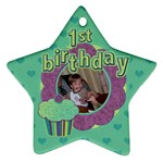 First Birthday Ornament - Ornament (Star)