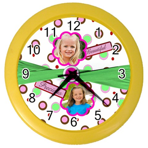 Girly Girl Clock By Danielle Christiansen   Color Wall Clock   V0zfd8pnokb7   Www Artscow Com Front