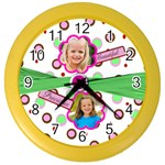 girly girl clock - Color Wall Clock