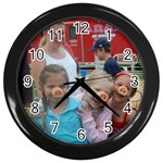 3 little Piggies - Wall Clock (Black)