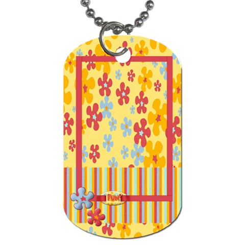 Summer Dog Tag By Mikki   Dog Tag (one Side)   Ptkwdcuvt6nb   Www Artscow Com Front