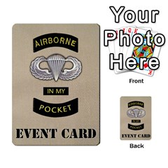 Geronimo! Airborne Expansion By James Hebert   Multi Purpose Cards (rectangle)   Iwu2mfw1tzgd   Www Artscow Com Back 16