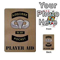 Geronimo! Airborne Expansion By James Hebert   Multi Purpose Cards (rectangle)   Iwu2mfw1tzgd   Www Artscow Com Back 45