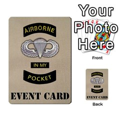 Geronimo! Airborne Expansion By James Hebert   Multi Purpose Cards (rectangle)   Iwu2mfw1tzgd   Www Artscow Com Back 50