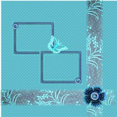 Butterfly Garden By Birkie 12 x12  Scrapbook Page - 1