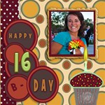 SWEET 16 - ScrapBook Page 12  x 12