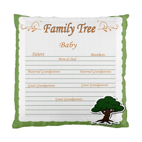 Baby s Family Tree By Brookieadkins Yahoo Com   Standard Cushion Case (one Side)   6jn1yo76054k   Www Artscow Com Front