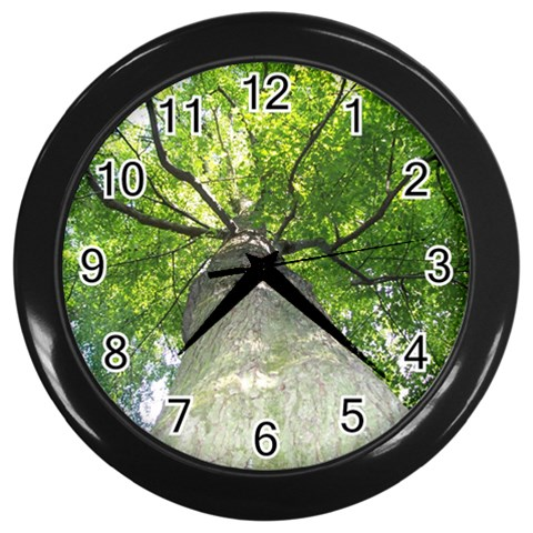 Black Framed Tree Clock By Laurrie   Wall Clock (black)   Nh7ilbrouej1   Www Artscow Com Front