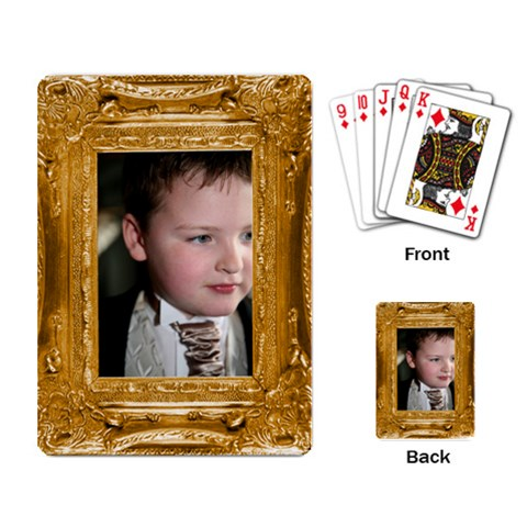 Gold Frame Playing Cards By Catvinnat   Playing Cards Single Design   Pbmnc5lmdr4l   Www Artscow Com Back