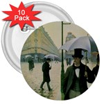 RainyParis 3  Button (10 pack)