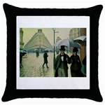 RainyParis Throw Pillow Case (Black)