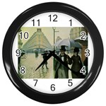 RainyParis Wall Clock (Black)