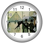 RainyParis Wall Clock (Silver)
