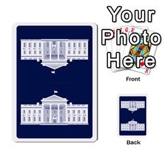 Trail To The White House   1/2 By Beowulf   Playing Cards 54 Designs (rectangle)   V65skll6y7jm   Www Artscow Com Back