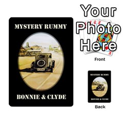 Cates Bonnie Clyde Part 1 By Daisy   Playing Cards 54 Designs (rectangle)   Itgcvxaupb4m   Www Artscow Com Back