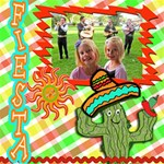 fiesta scrapbook page - ScrapBook Page 12  x 12