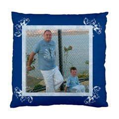 Litle Boy Blue Cushion Cover By Catvinnat Front