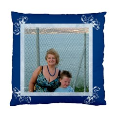 Litle Boy Blue Cushion Cover By Catvinnat Back