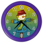 Scarecrow Clock - Color Wall Clock