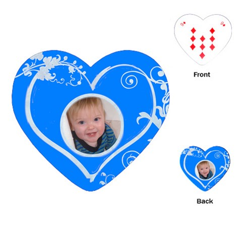 Little Boy Blue Sweetheart Playing Cards By Catvinnat   Playing Cards (heart)   2w68ptuj88ud   Www Artscow Com Front