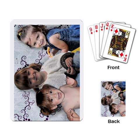 Playing Cards By Lily Hamilton   Playing Cards Single Design (rectangle)   Xh2q5yvzh3tf   Www Artscow Com Back