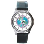 Peace Round Metal Watch