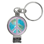 Peace Nail Clippers Key Chain