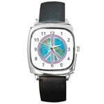 Peace Square Metal Watch
