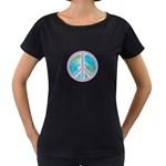 Peace Maternity Black T-Shirt
