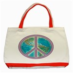 Peace Classic Tote Bag (Red)