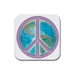 Peace Rubber Coaster (Square)
