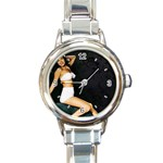 Marilyn Monroe Round Italian Charm Watch
