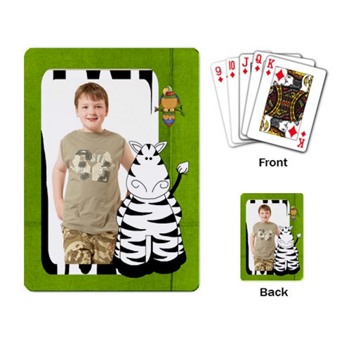 Safari Zebra Playing Cards By Catvinnat Back