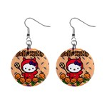 Hello Kitty 1  Button Earrings