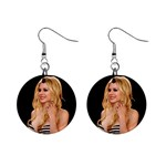 Avril Lavigne 1  Button Earrings