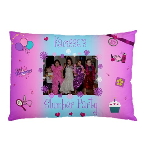Slumber Party Pillow By Kristina   Pillow Case   Js9jzg9oozyn   Www Artscow Com 26.62 x18.9 Pillow Case