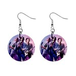 Jonas Brother 1  Button Earrings